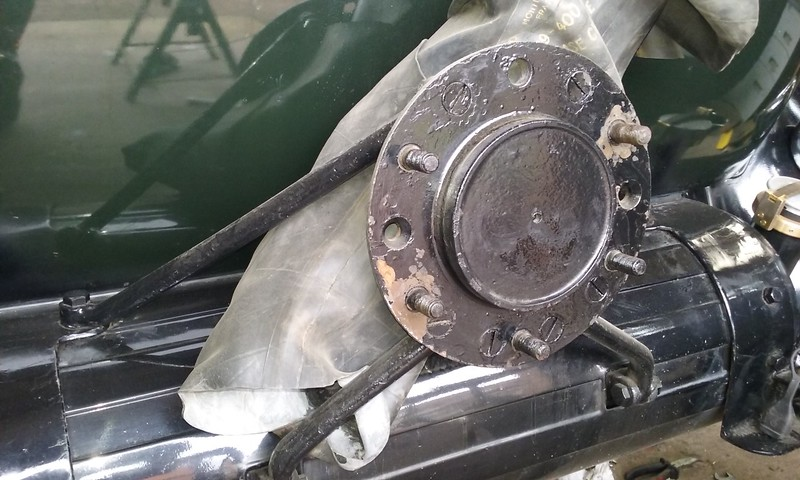 Rear Mounted Spare bracket for Disc Wheels (from: B. George in France)