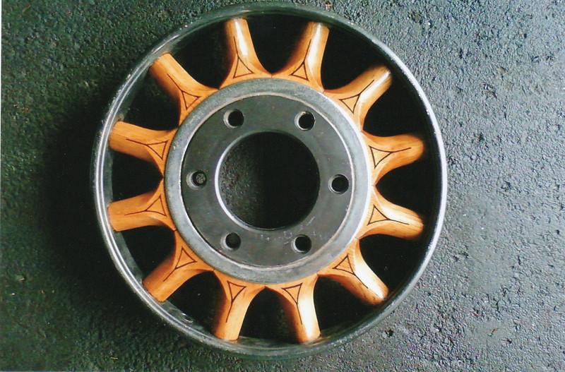 Optional Artillery Wood Wheel (w/ pin stripping)