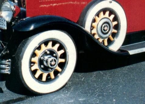 Artillery wood wheel - optional (demountable at hub)