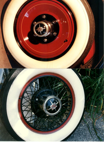 Disc wheel (Top); Wire wheel (bottom)