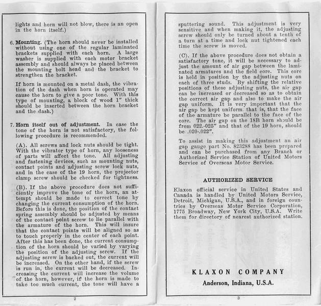 Horn Adjustment - Page 2.