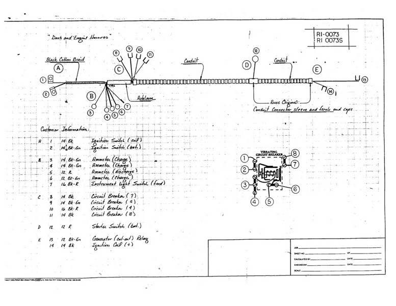 Early Dash and Engine wiring harness diagram
