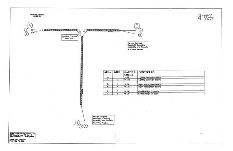 Headlight wiring harness diagram