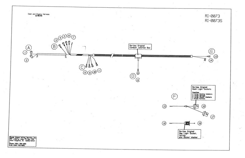 Dash & Engine Wiring Harness Diagram Pg. #2