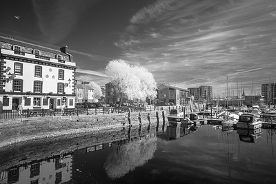 The Sutton Harbour Quay at The Barbican - Infra-Red - 2