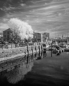 The Sutton Harbour Quay at The Barbican - Infra-Red - 1