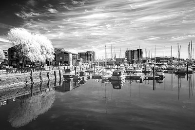 The Sutton Harbour Quay at The Barbican - Infra-Red - 3