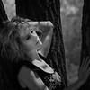 Felicia Davis in tree