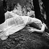 Kristenleigh Parrish resting on tree