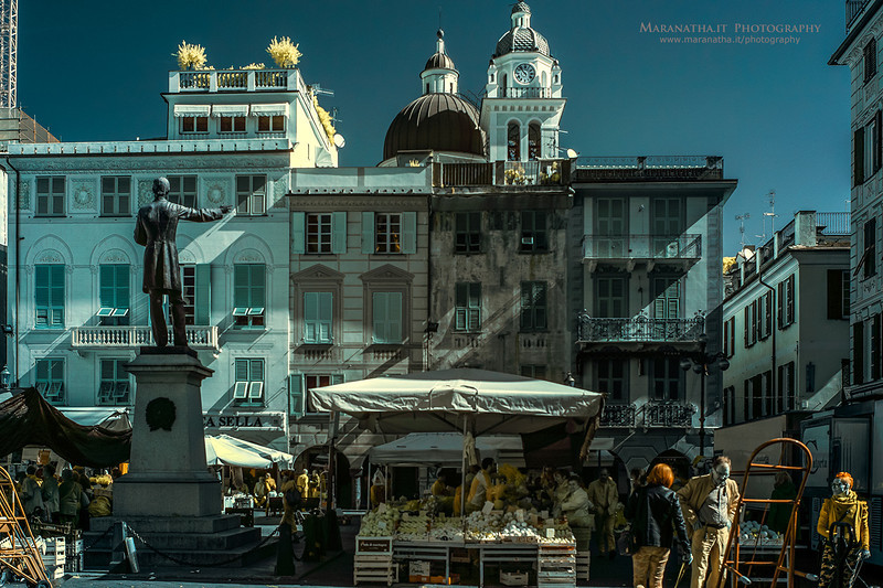 07/04/2014 – 10:54  (INFRARED) Piazza Mazzini, Chiavari. Riviera Ligure di Levante, Genoa Italy