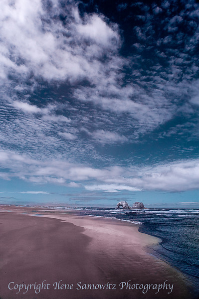 Color IR, Rockaway Beach, Oregon