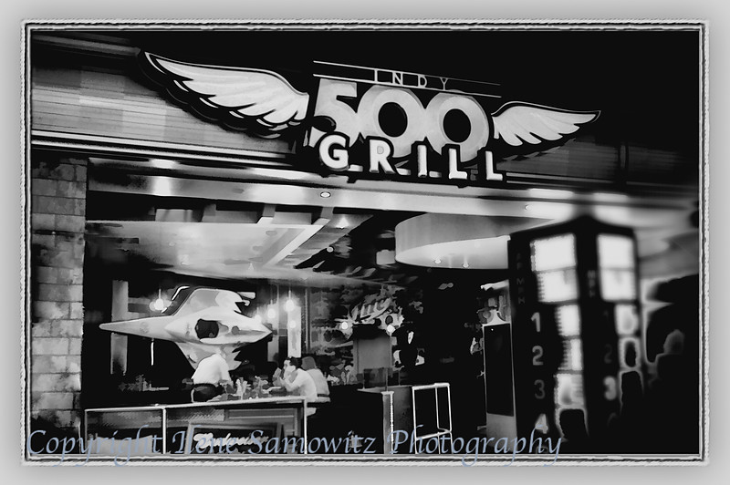 Indianapolis Infrared<br /> Indy Grill Black and White