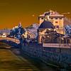 08/03/2014 15:55 Torrente Gromolo e ponte medioevale, Via Nazionale e Villa Cattaneo della Volta. Sestri Levante, Genoa Italy