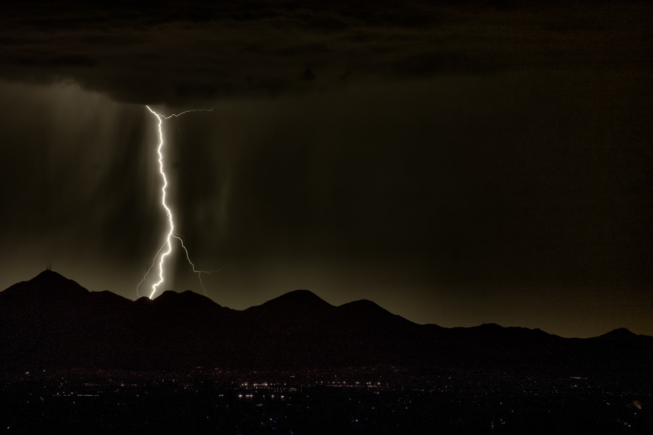 Bolt Over McDowell Mountains