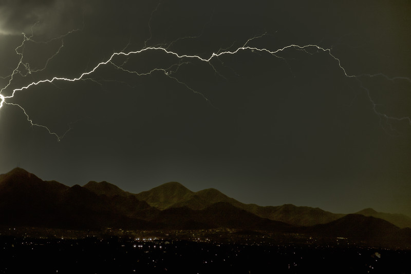Lightning Arch Over Scottsdale