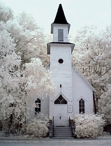 Old Mission Congregational Church Infrared #01- Old Mission, Michigan