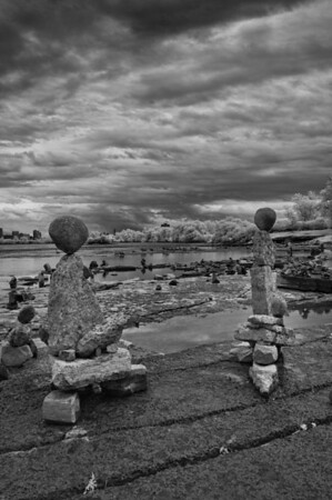 Inuksuit on the Ottawa River