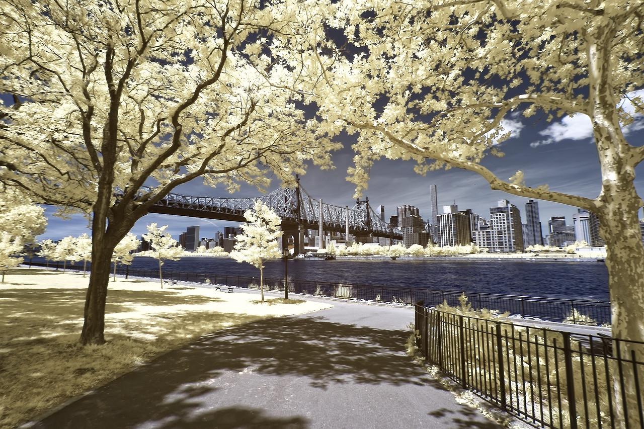 Intrared Photo of Ed Koch Queensborough Bridge, NYC