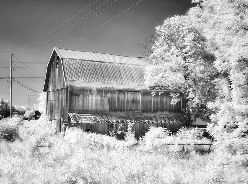 Bright Light on the Old Barn - Syracuse, Indiana