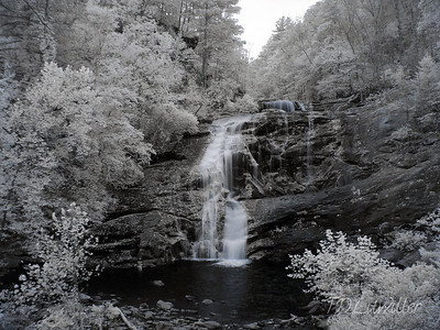 Infrared photo of Bald River Falls TN.   taken with an R72 filter
