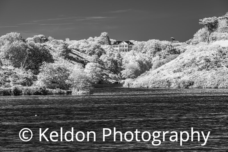 Val de La Mare Reservoir, Jersey (infrared)