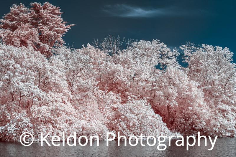 Queens Valley Reservoir, Jersey (infrared)