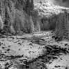 Kurtz Creek coming off the Kurtz Glacier, Mt. Rainier National Park, Washington