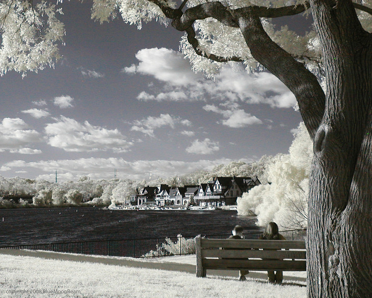 Boathouse View, behind the Art Museum, Philadelphia (infrared)