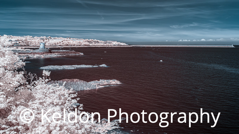 Archirondel and St Catherine's Breakwater in Infrared