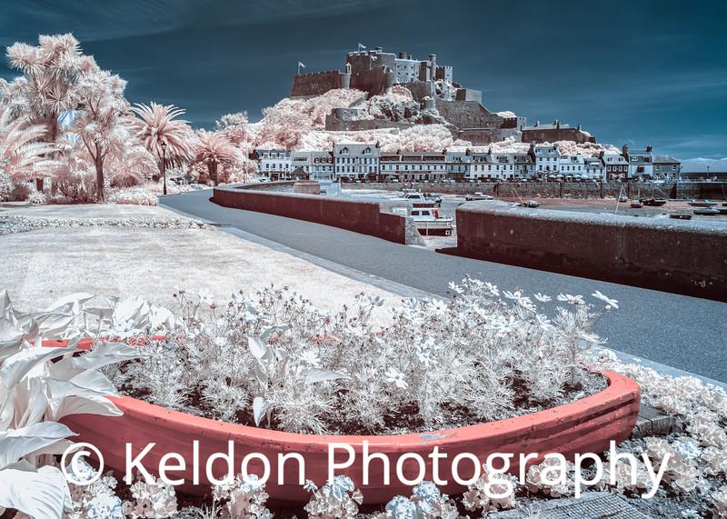 Mont Orgueil Castle in Infrared