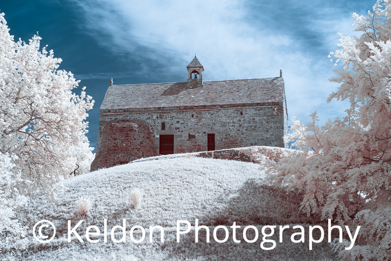 Hougue Bie Chapel in Infrared