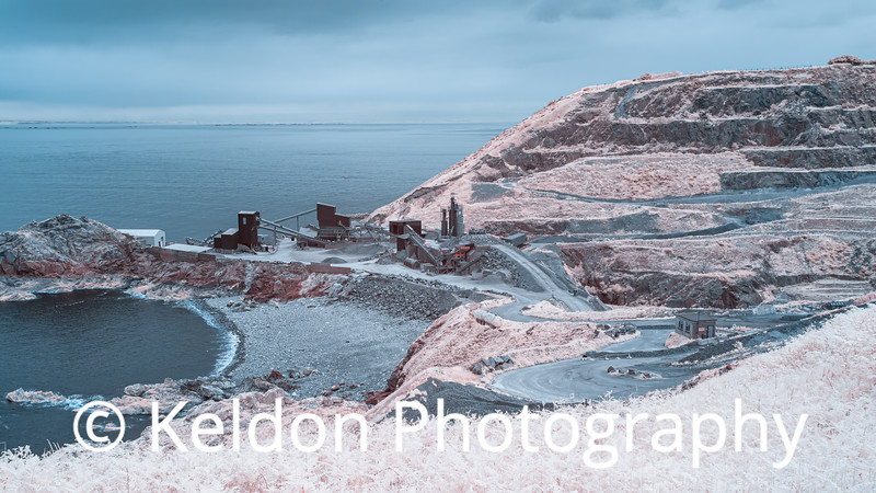 Ronez Quarry in Infrared