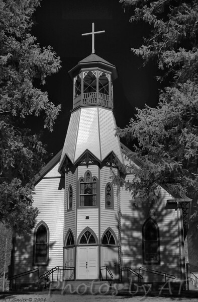 St. Johns Church, Maryland<br /> - Infrared Photo -