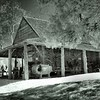Sotterley Plantation - Corn Crib<br /> (Late 18th to 19th century)<br /> - Infrared Photo -