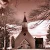 Trinity Church, St. Mary's Parish <br /> St. Mary's City, Maryland<br /> - Infrared Photo -