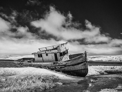Abandoned Point Reyes fishing boat