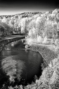 Cross River Dam - Cross River Reservoir, Cross River, NY in infrared