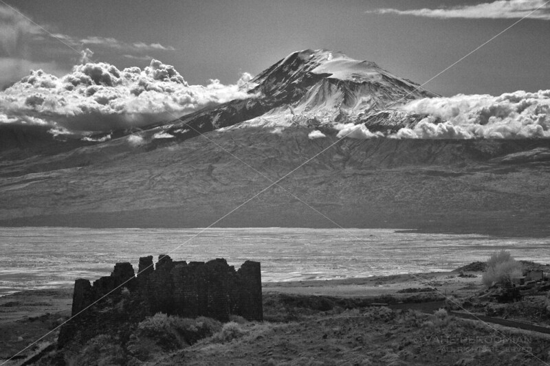 Amberd Fortress and Mt. Ararat
