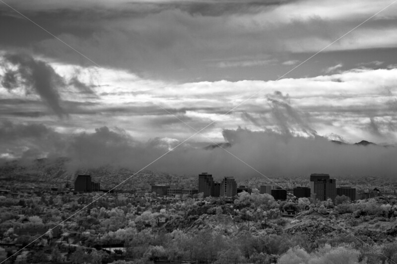 Clearing storm, Downtown Glendale