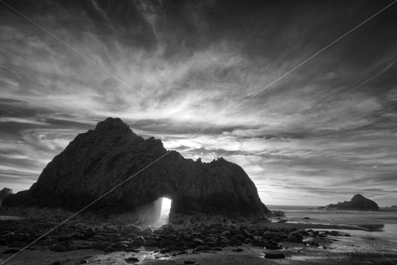 Infrared Sunset, Pfeiffer Beach