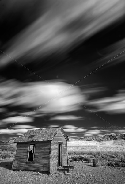 Shack and Clouds