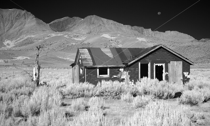 Moonset and Cabin