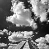El Castillo and Clouds