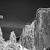 Moonrise over Half Dome