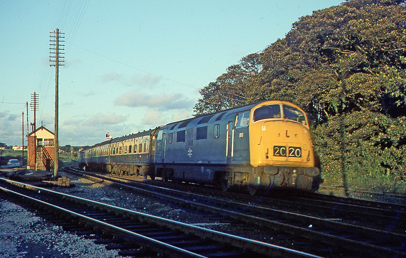 1973:  Clinbing through St Erth is 815 'Druid' as it works 2C20 to Penzance