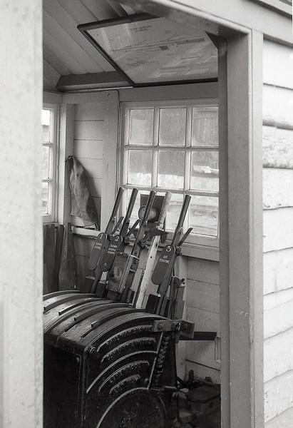 6th Sep 1965:  Callington signal box lever frame