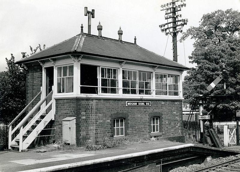Midgham Signal Box in 1969