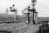 1st Jan 65:  Hawkeridge Junction with the bracket signal arms still in place. They controlled the access into the siding to the old Army stores Depot. Now the site of the West Wilts Trading Estate