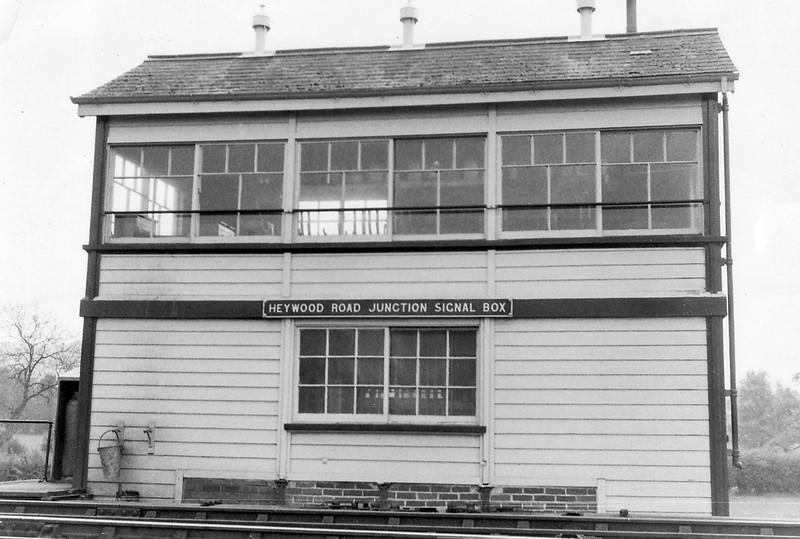 1st Jan 72:  Heywood Road Jct box