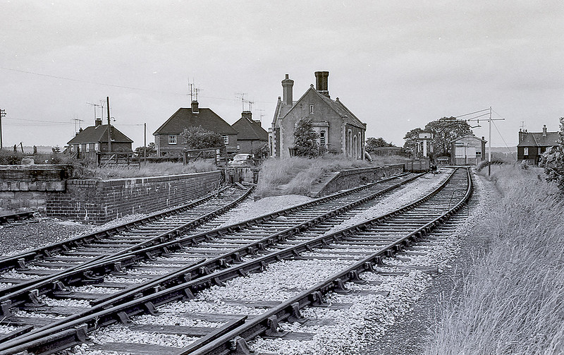 May 1964:  The GWR branch line station at Marlborough that closed in 1933.